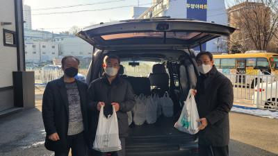 초운교회, 100여명의 선교사와 가족에게 사골 곰국과 김치 찜 전달