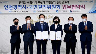 인천광역시-국민권익위원회 업무협약식