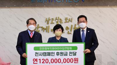 인천시, 천사캠페인후원금 1억2천만 원 전달