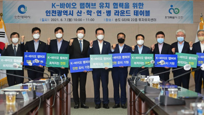 K-바이오 랩허브 유치 협력을 위한 인천광역시 산·학·연·병 라운드 테이블